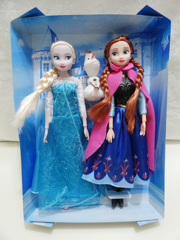 With Original BOX Snow Queen Boneca Playing Set Princess Anna Elsa OLAF Box Action Toy Dolls Gift EMS Free Shipping 10Boxes/Lot<br><br>Aliexpress
