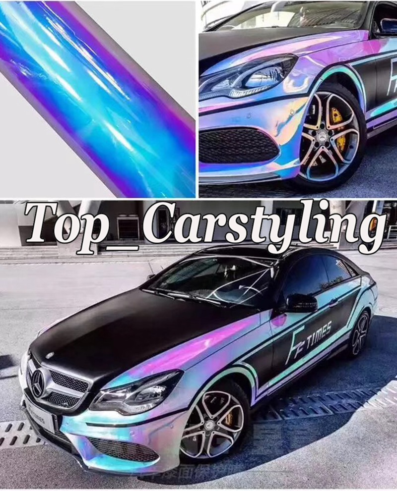 rainbow chrome holographic car wrapping film (1)