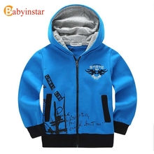 Children's Hoodies for Boys 8-14 yrs Kid 2017 Fall Autumn Sweatshirts Child Outerwear Casual Embroidery Teen's Sports Boys Coat(China)
