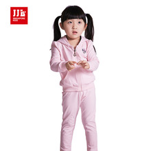 jjlkids news babys girls suits cartoon sweet clothing school sports suit outdoor sets(China)