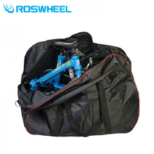 ROSWHEEL New 2 in 1 Foldable Bicycle Handlebar / Saddle Bag Waterproof Cycling Storage Bag Package Panniers Bike Accessories