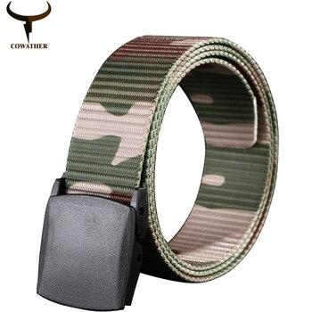 Cowather 2016 nueva llegada mens de la correa para los hombres venta caliente de alta calidad de material de nylon masculina cinturones ceinture homme envío gratis