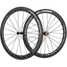 1 Par De SUPERTEAM 50mm Clincher Ruedas de Carbono de China Ruedas De Carretera de Carbono Con Acabado Mate de Carbono Powerway R39 Hub juego de ruedas