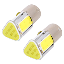 ITimo COB 2pcs Super Bright 5W 12V 1156 BA15S P21W Reverse Lamp LED Turn Signal Light Car Stop Brake Bulb Universal(China)