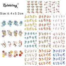 2017 New Arrival Different Species Beautiful Flower Series Nail Sticker Fingernail Decorations Paper Transfer For Nail Art(China)