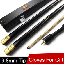 Ash Wood 3/4 Jointed Snooker Cue 9.8mm Tip With Black 3 4 Snooker Cues Case Set And Extension Fast Shippment