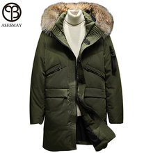 Asesmay Mens Down Parka Feather Jacket Men's Down Jackets Wellensteyn Men Winter Down Jacket Goose Russian Military Winter Coat(China)