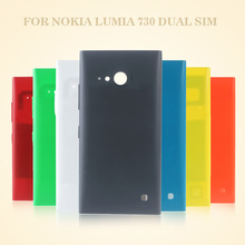 OEM for Microsoft Nokia Lumia 730 Lumia730 Dual SIM Battery Housing  Cover with NFC Antenna Smartphone Back Case Funda