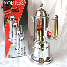 12PCS Home / Commercial Italian Moka Pot Stainless Steel 4 cup Mocha coffee machine Italian espresso coffee maker(China)