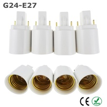 Buy 5X G24 E27 Adapter LED Light Bulb Lamp Extend Base White ABS Socket Base Halogen CFL Light Lamp adapter E27 converter for $4.46 in AliExpress store