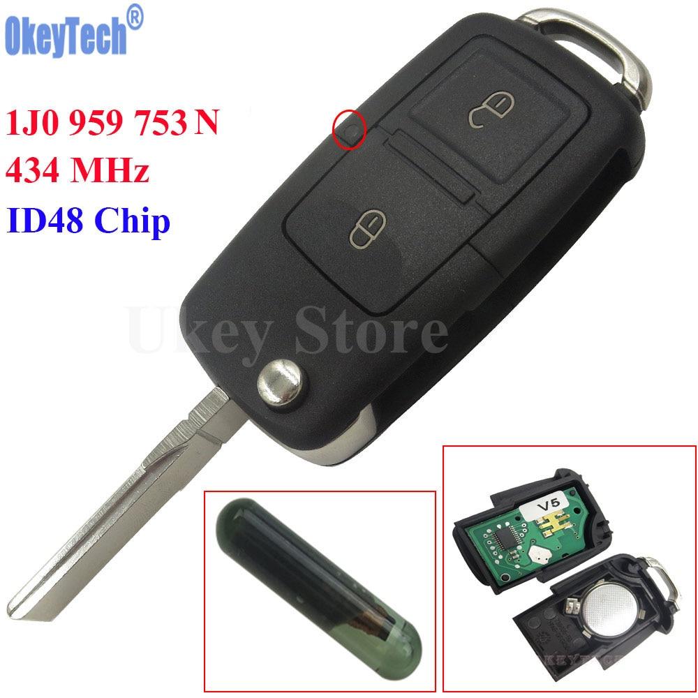 Vw Caddy Lupo Passat Transporter T5 2 botón remoto fob caso clave /& Blade