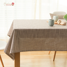 1 Piece Japanese Pure Color Cotton and Linen Table Cloth/ Gray Coffee Table Runner/ Simple Decorate Tablecloth Free Shipping