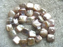 "WOW! freshwater pearl purple square 12-14mm 15"" nature"