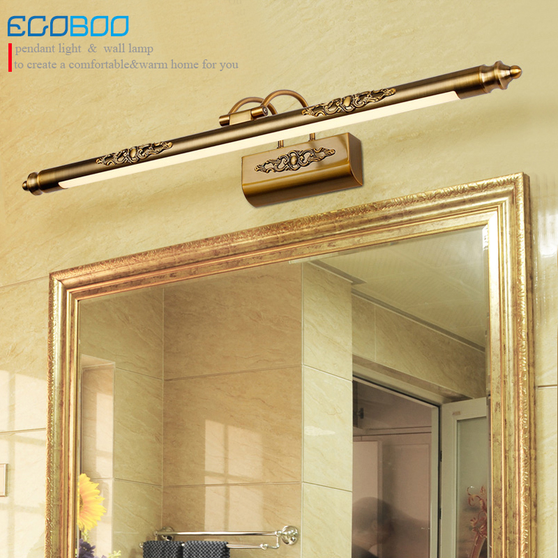 EGOBOO Traditional Style LED Wall Lamps in Bathroom with Swing Arm 50CM 70CM 90CM Long over Mirrors Sconces Light 110V / 220V AC