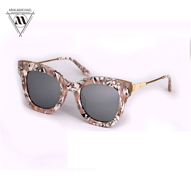 High Quality Cat Eye Female Sunglasses Fashion Oculos de sol Reflective Summer Pink Sun Glasses Vintage Sexy Shades Eye glasses<br><br>Aliexpress