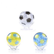 3Pcs DIY 3D Football Crystal/Puzzle Crystal Jigsaw Toys Children Gift/Free Shipping