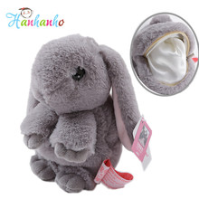 Super Lovely Fluffy Bunny Plush Toy Coin Bag Stuffed Fur Rabbit Pendant Fashion Dead Rabbit Animal Kids Toy 18cm(China)