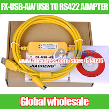 PLC programming cable for Mitsubishi FX3U series / data download cable FX-USB-AW USB TO RS422 ADAPTER Electronic Data Systems