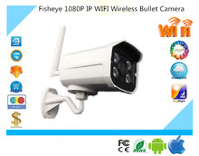 1080P 1920*1080 IP Wireless WIFI Bullet Camera WaterProof IP66 Outdoor Metal Body 4 Array Infrared LEDs NightVision IRC P2P CCTV