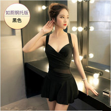 Bathing Suit Women 2017 Conservative Sexy Swimsuit Female Skirt Style Swimsuit Korean Swimwear One Piece Hot Sale Size M~XL(China)