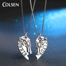 COLSEN 2017 retro style personalized pendant youth boy cool necklace heart puzzle jewelry wholesale supply brand gift bijoux hot