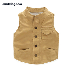 Mudkingdom Boys Waistcoat Kids Outwear Spring Vest Coats Sleeveless Boys Jacket  Kids Clothes Children Clothing Bosudhsou