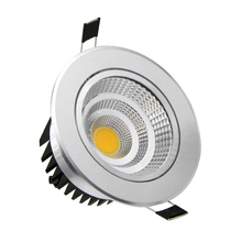 [DBF]Adjustable Angle Dimmable LED COB Downlight 6W 9W 12W 18W Recessed Ceiling Lamp AC110V 220V Downlight Spot Light Home Decor(China)