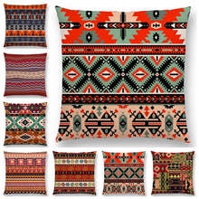 Newest Bohemia Cushion Cover Vintage Pattern Ethnic Striped Navajo Arrow Sofa Throw Pillow Case(China)