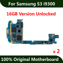 Free Shipping 2pcs Factory Unlocked Motherboard For Samsung Galaxy S3 i9300 16GB Original Mainboard With Full Chips Android OS(China)