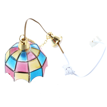 Wholesale Doll house miniature beautiful color ceiling lamp light Hanging lamps