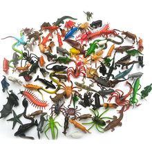 80Pcs/Lot Anime Insect Reptiles World Stimulation Animals Figure Toy Gags Practical Jokes Kids Baby Toys(China)