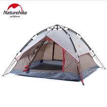 Naturehike outdoor Fishing 3-4 person automatic tent hiking beach Windproof Waterproof Double Layer camping tent tourism