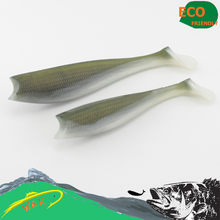 Cod and Zander fishing lure--14 cm 3 pcs/ bags big paddle tail soft lure at 13 different color soft bait #H0905-140(China)