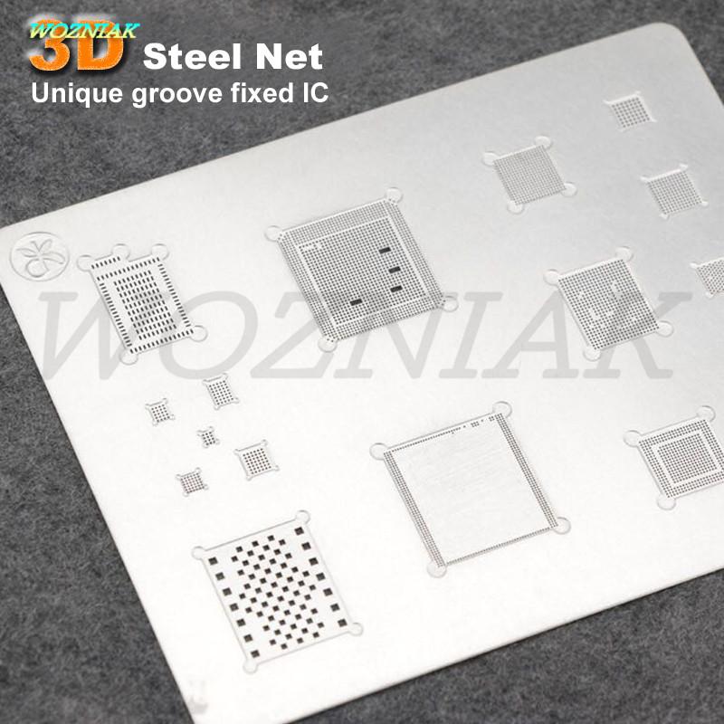 Купить Уникальный гребень фиксированной IC Профессиональный 3D Олова завод сеть Для iPhone 6 6 S 6 P 6sp 7 7 P A8 A9 A10 ЧИП ПРОЦЕССОРА IC полосы Питания Олова сетки дешево