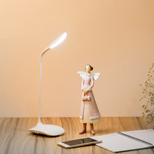 Usb LED Small Book Lamp Student Dormitory Table light Touch Type Bedroom Bedside Lamp Third Gear Dimming Rechargeable Desk lamp(China)
