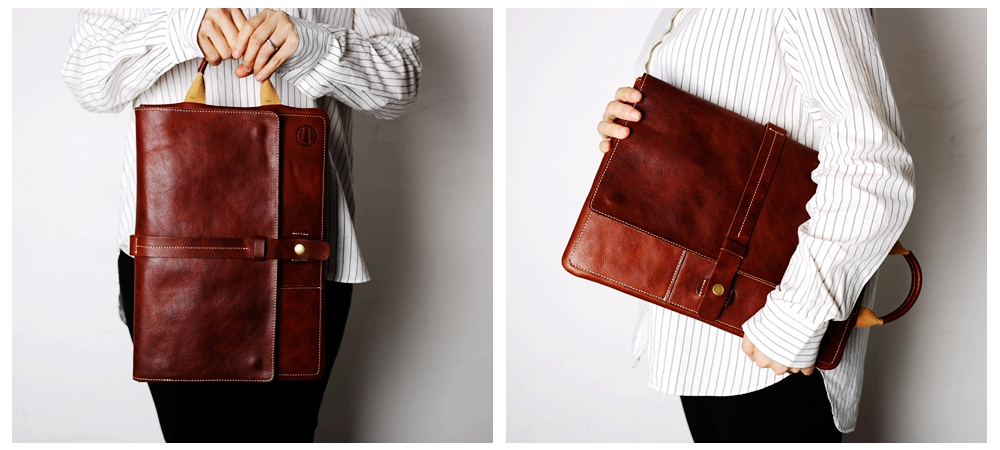 portable leather laptop sleeve