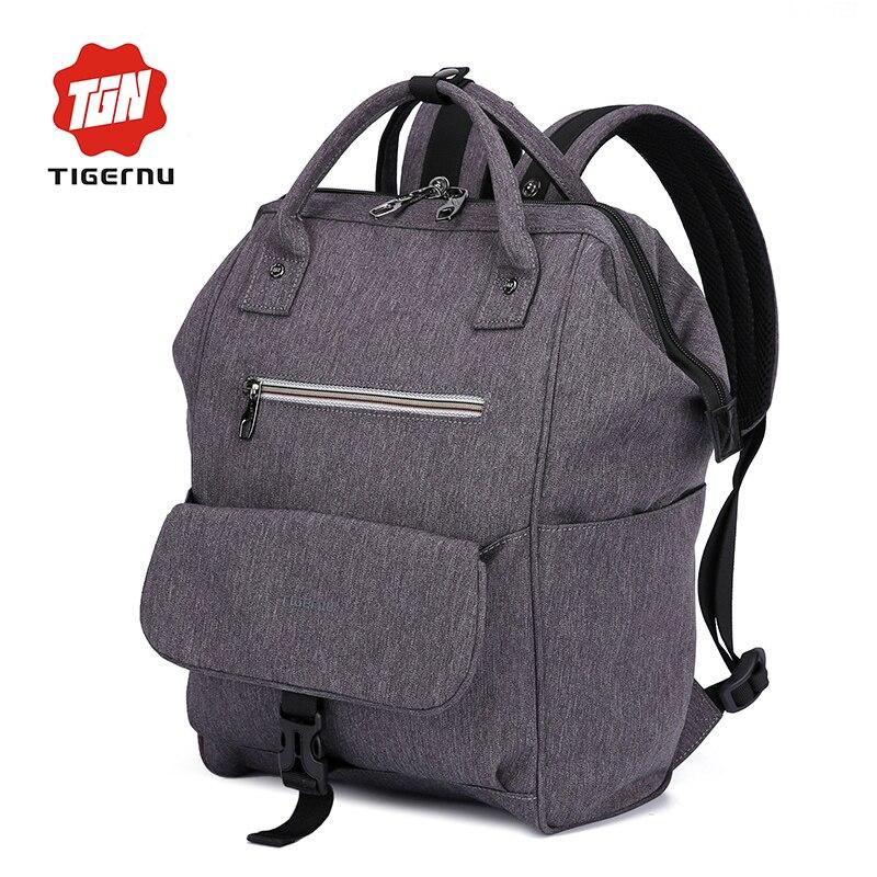 Tigernu Vintage Women Backpack Bag Mini 13 Inch Laptop Backpack Men Bags for Travel Rucksack Ladies Shoulder Bags<br>