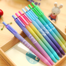 4 Pcs/Lot Creative Dream sky gel pen Aurora color pens 0.5mm ballpoint Black ink refill Stationery Office school supplies