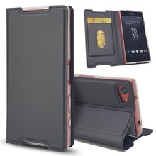 Buy Elegant Flip Case Sony Xperia Z5 Compact Phone Case Coque Sony Z5 Compact Leather Cover Wallet Card Etui Hoesje Capinha for $4.32 in AliExpress store