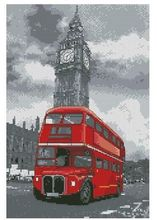1th Red bus with towel cross needlework crafts similar dmc embroidery cross thread stitch cross counted cross stitch kits
