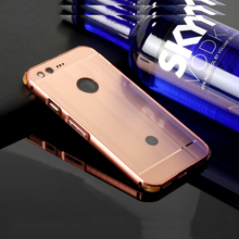 "For Google Pixel 5.0"" Metal Case Aluminum Back Cover Phone Housing Pixel XL 5.5 inch Four-sided Protector Shell Capa Conque(China)"