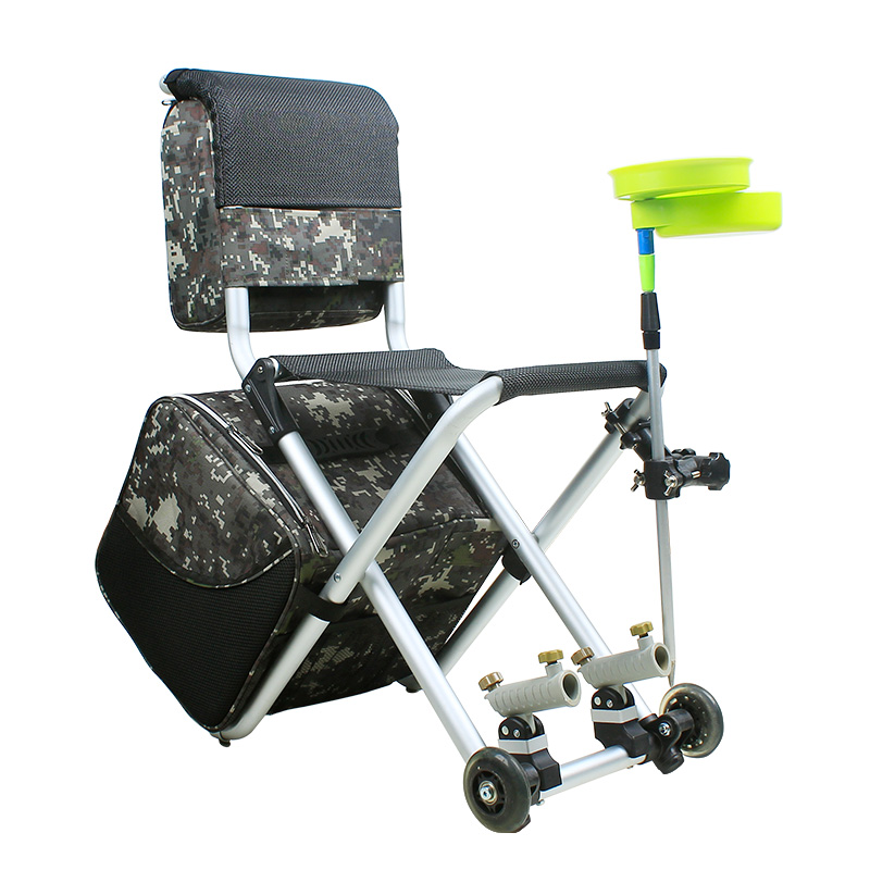 fishing chair Aluminum alloy Ultra-light 2.28kg multifunctional Shopping travel chair with wheel easy folding 150kg loading(China (Mainland))