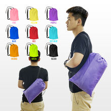10 Colors Fast Inflatable Lazy bag Air Sleeping Bag Camping Portable Air Sofa Beach Bed Air Hammock Nylon Banana Sofa Lounger(China)