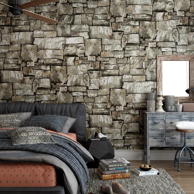 Reminisced marble stone wallpaper 3d waterproof brick bricklike wallpaper <br>