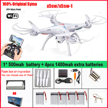 Original SYMA X5SW / X5SW-1 fpv Quadcopter WiFi Drone with Camera Headless Real Time remote control RC Helicopter toys(China)