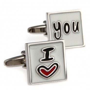 I Love You Cufflink 15 Pairs Free Shipping