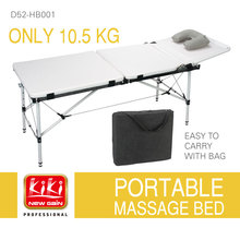 KIKI.Folding massages bed.light and handy.200KG liftng capacity.Portable beauty bed.Salon Furniture. High quality sponge