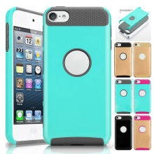 2 in 1 Shockproof Case For iPod Touch 5 Rugged Rubber Hard Plastic Ultra-thin Back Cover For iTouch 6 Impactproof Anti-Skid