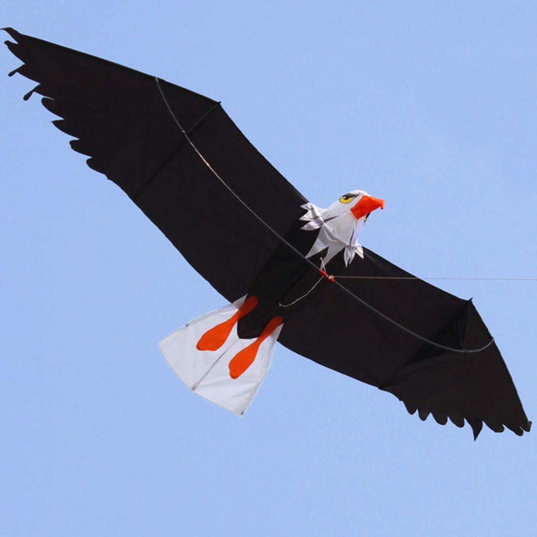 New Arrivals 1Pc 3D Flying Large Eagle Bird Kite Children Kids Outdoor Sports Toy High Quality For Kids Adults Mayitr