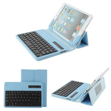"Wireless Removable Bluetooth Keyboard For Samsung Galaxy Tab 2 7.0""- 8 inch  P3100 P3110 P6200 P6210 Stander Leather Case"